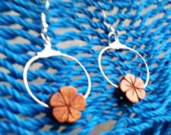 Plumeria earrings-hawaiian jewelry-hawaiian earrings-plumeria hoop earrings
