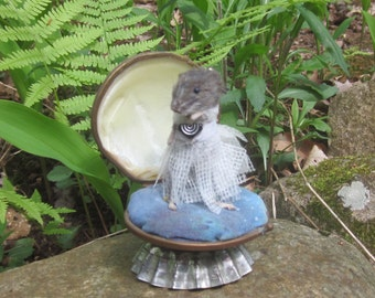 Anthropomorphic Taxidermy deer mouse.