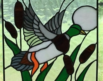 Mallard Duck Stained Glass