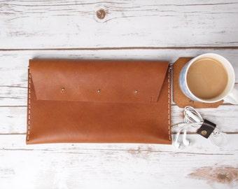 Leather Envelope Clutch / Leather Envelope Bag / Leather Bag / Leather Clutch / Envelope Purse / Clutch Purse / Ladies' Evening Purse