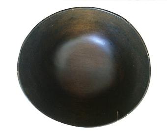 Large Vintage Antique Hand Carved Wood Burl Bowl