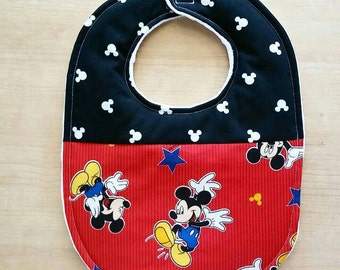 Mickey Mouse Inspired Baby Bib