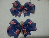 Australia day hair clips set of two