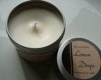 Lemon Drops soy wax candle tin