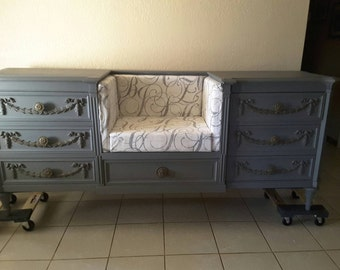 Repurposed antique dresser