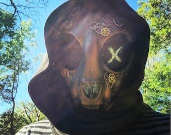 Steampunk Cat Skull Mask