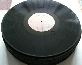 "BULK LOT of 25 - 12"" Vinyl Record Albums - LP's - For Arts & Crafts, Repurpose"