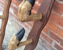 Magnificent gun rack taxidermy coat hat hooks