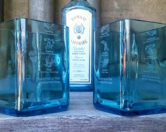 Bombay Sapphire Blue Drinking Glasses