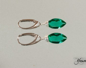 Emerald sterling silver