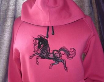 Dark Unicorn Hoodie Hooded Sweatshirt Size S. One available. OOAK