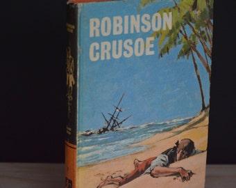 Robinson Crusoe,Vintage Book,Decorative Book, Bankcroft Classic, Shabby Chic, Photo Prop