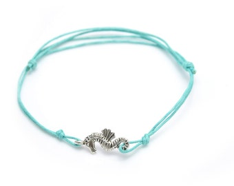 Anklet silver seahorse