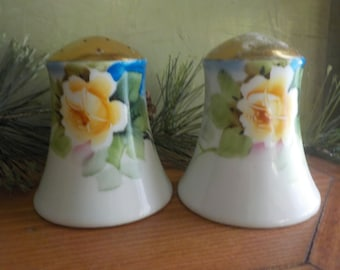 Vintage Yellow Rose Morimura,Noritake, Salt And Pepper Shakers, Made In Japan