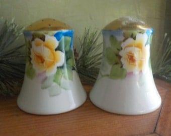 Vintage Yellow Rose Morimura,Noritake, Salt And Pepper Shakers, Made In Japan