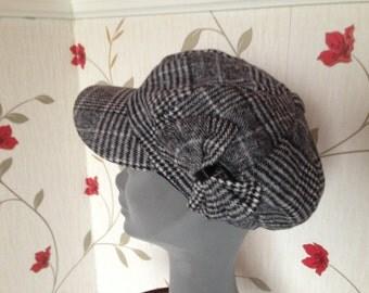 Ladies Newsboys Cap Hat - Wool Blend  - Womens Irish Bakerboy Hats - Newsboy Cap