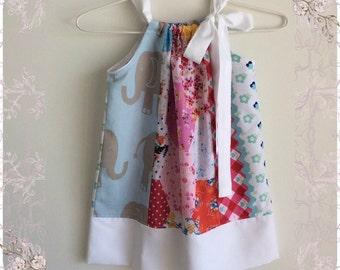 Colourful Summer Pillowcase Dress Size 3
