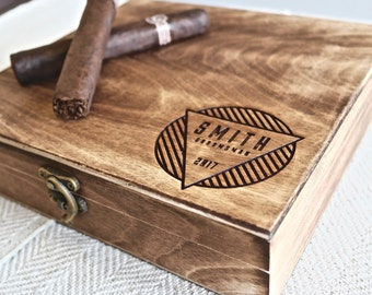 Groomsmen Gift – Personalized Cigar Box– A Personalized Gift, great for Groomsmen Gifts, Best Man Gift or Wedding Gifts