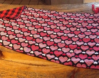 Heart & Checkered Stroller Blanket