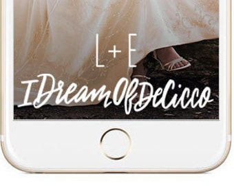 Snapchat Hashtag Wedding GeoFilter | Personalized Custom Calligraphy On Demand Geo Filter