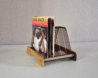 porte disque vintage 50 vinyls par ephemereintemporel sur etsy. Black Bedroom Furniture Sets. Home Design Ideas