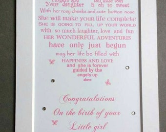 New Baby Gift, Birth of your Son, New Baby Girl, Gift for New Arrival, Congratulations on the birth
