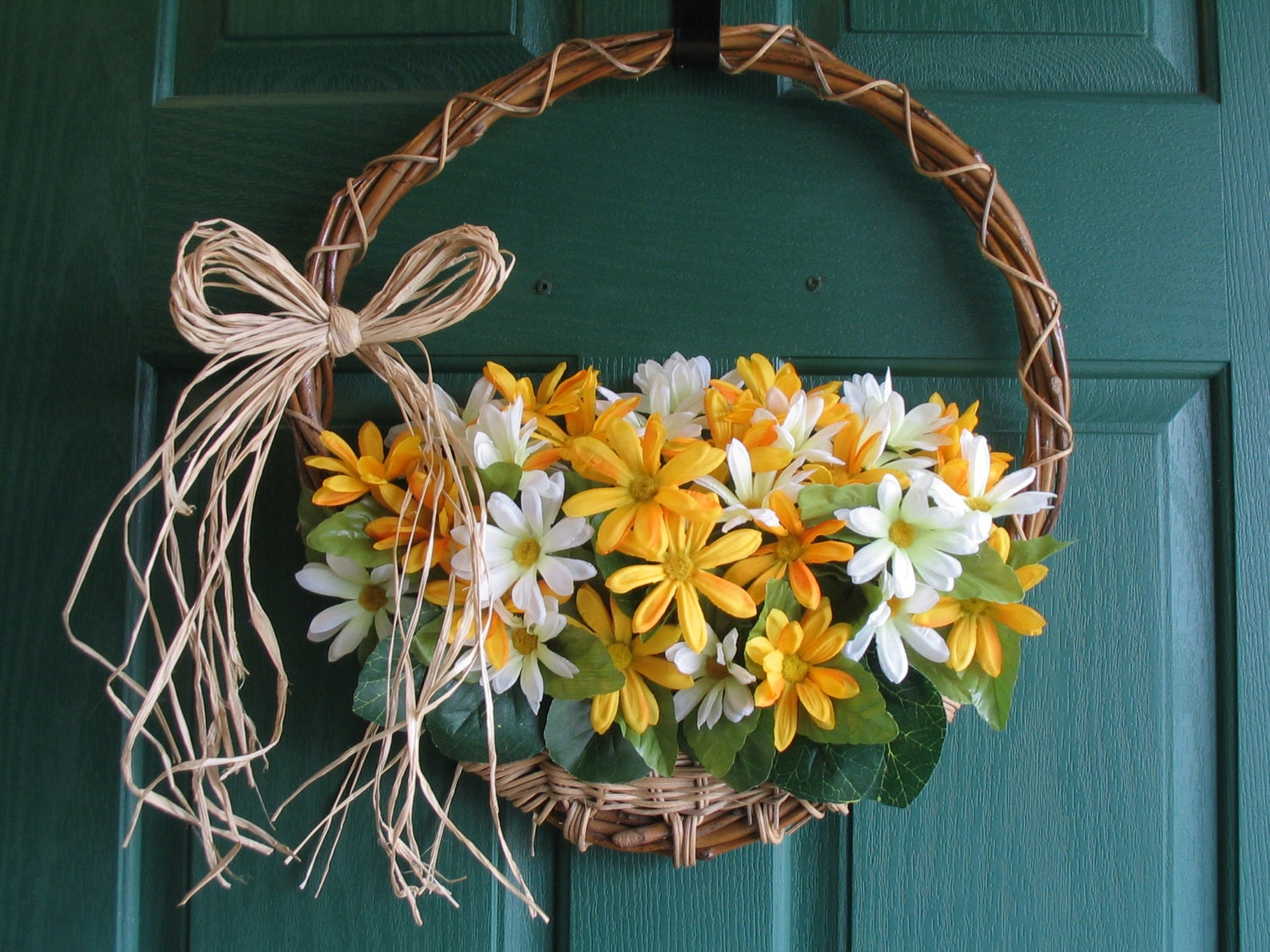 Daisy Door Hanger Spring Wreath Summer Daisy Wreath