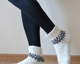 Wool socks women Gift for wife Knit socks Womens socks Wool socks Handknit socks Winter socks Chunky socks Gift for sister Knitted socks