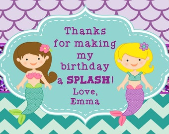 Mermaid Party Thank You Notes