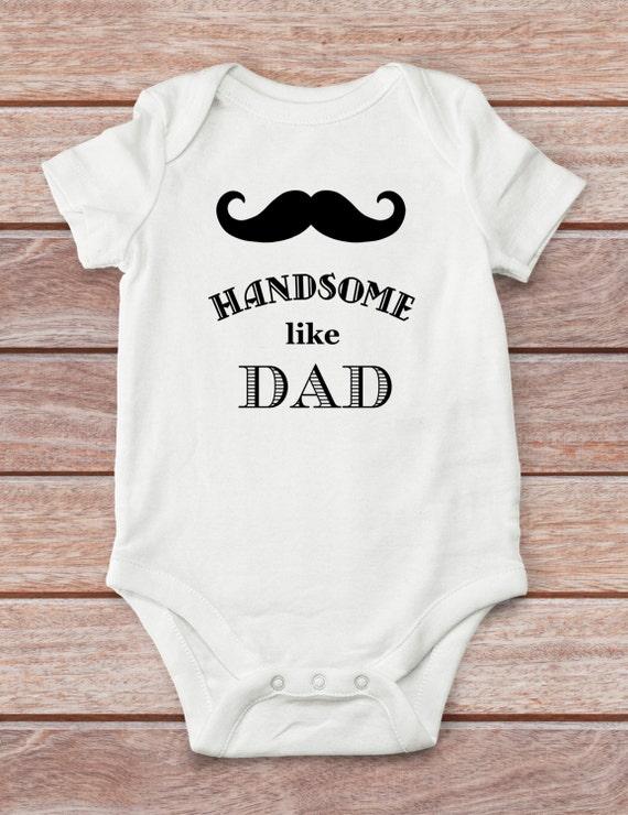 handsome like dad bodysuit baby boy bodysuit cute baby boy clothes