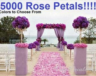 5000 Rose Petals, Huge Lot Wedding Rose Petals Choose any combination of colors, Bride Throw, Wedding Decor, Wedding Decoration, Rose Pedals