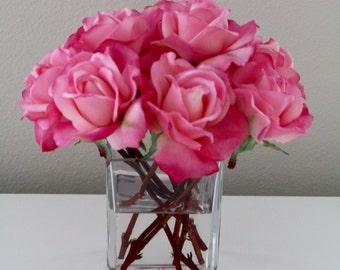 True Touch Rose Faux Floral Arrangement