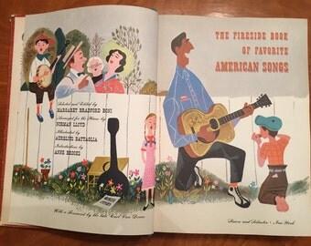 Fireside Book of Favorite American Songs fifties 1950s 50s mid century vintage book folk songs songbook music