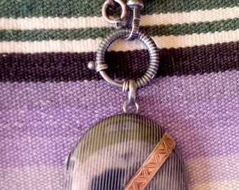 1800s Niello Chain and Locket