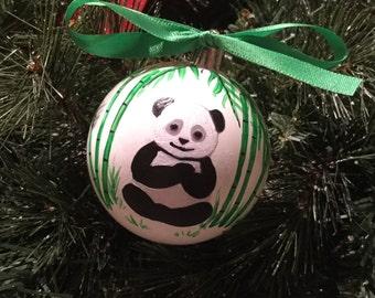 Panda bear ornament | Etsy
