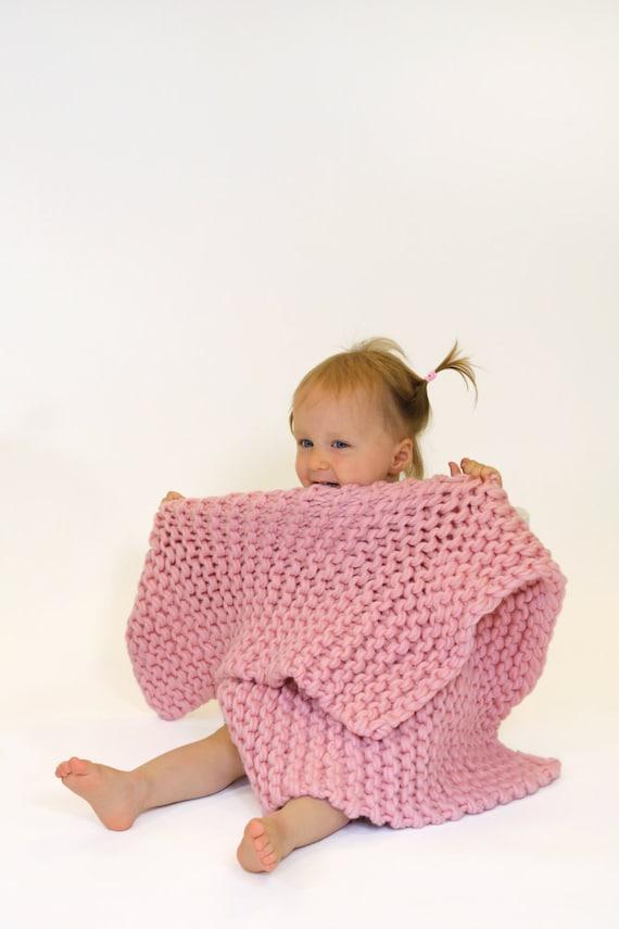 Crochet Kits For Beginners : Beginners KNITTING KIT Baby Blanket. DIY knit kit, Learn to knit ...