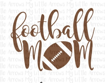 Football mom SVG, DXF, EPS, png Files for Cutting Machines Cameo or Cricut - football mom svg - football svg - diy football shirt -
