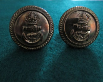 Handmade Genuine Military Button Cufflinks