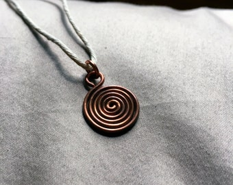 Zen Copper Spiral Necklace