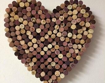 Natural Wine Cork Heart -Medium