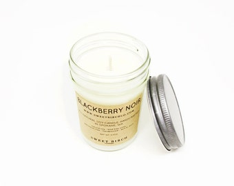 Blackberry Soy Candle - Blackberries - Berry Scented Candles - Food Scented Candle - Soy Candles Handmade -