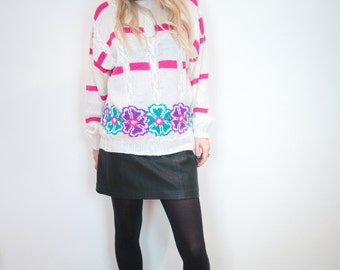 Vintage Flower Knit Jumper