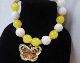Sunday Morning Butterfly beaded bracelet