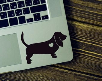 SUMMER SALE! Basset Hound Sticker Basset Hound Decal Car Laptop Vinyl Decal Sticker