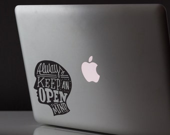 Always Keep An open mind motivation sticker postive sticker Car Vinyl Decal Sticker