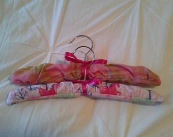 Baby girl padded coat hangers