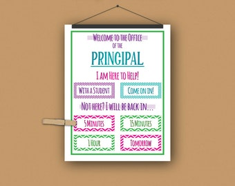 School Principal Print//Personalized//Door Sign//Learning//Elementary School//Middle School//Free gift wrapping