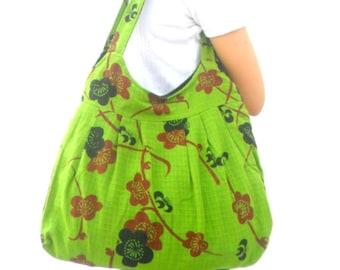 Tote bag Lady Women Bag Ethnic bag  Bohemian Bag Green Black color Bag Shoulder Bag Hippie Boho Purse Messenger Gift Bag