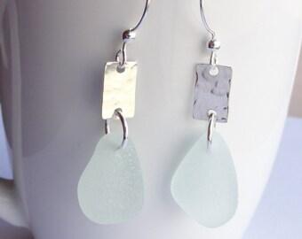 Scottish Sea Glass Earrings - Sterling Silver