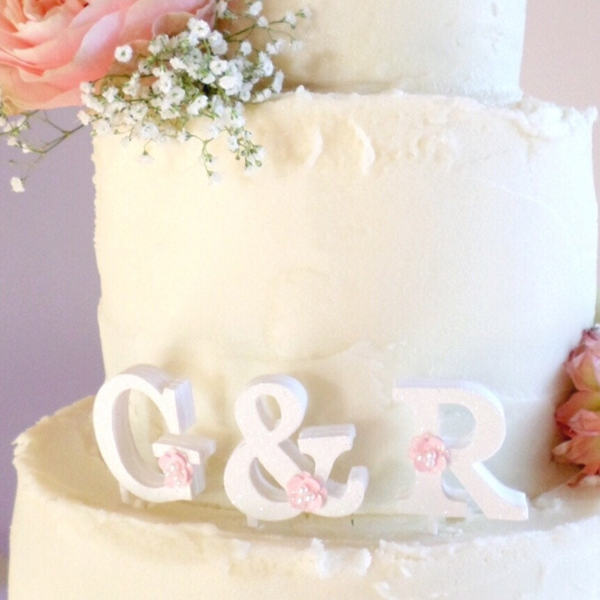 Cake Topper Initials Uk